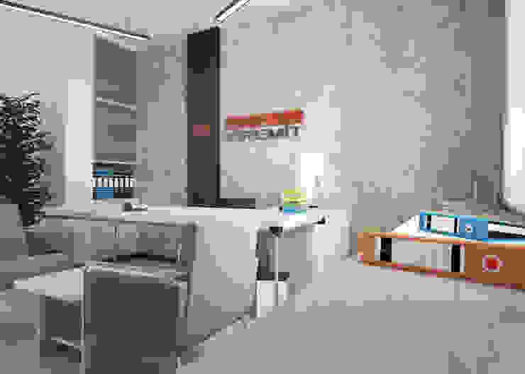 ROAS ARCHITECTURE 3D DESIGN AGENCY – HEAD OFFICE PROJECT FOR MERAM KIREMIT: modern tarz , Modern