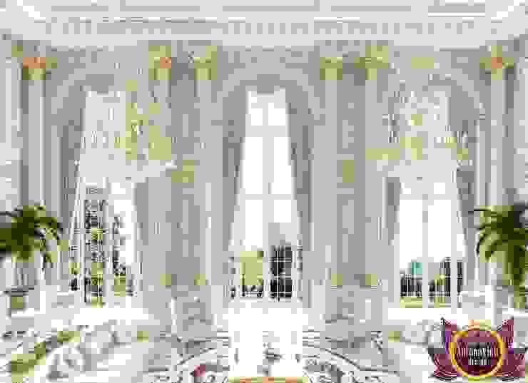 Beautiful house interior of Katrina Antonovich Classic style corridor, hallway and stairs by Luxury Antonovich Design Classic
