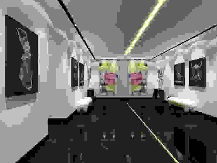 Pasillos, vestíbulos y escaleras de estilo moderno de Paris Luxury Interiors Moderno Mármol