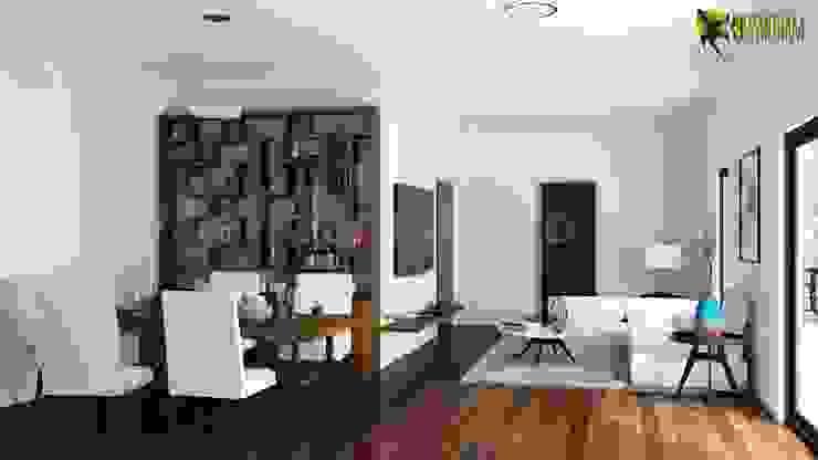 Esempio degli Interni soggiorno e cucina design von Yantram ...