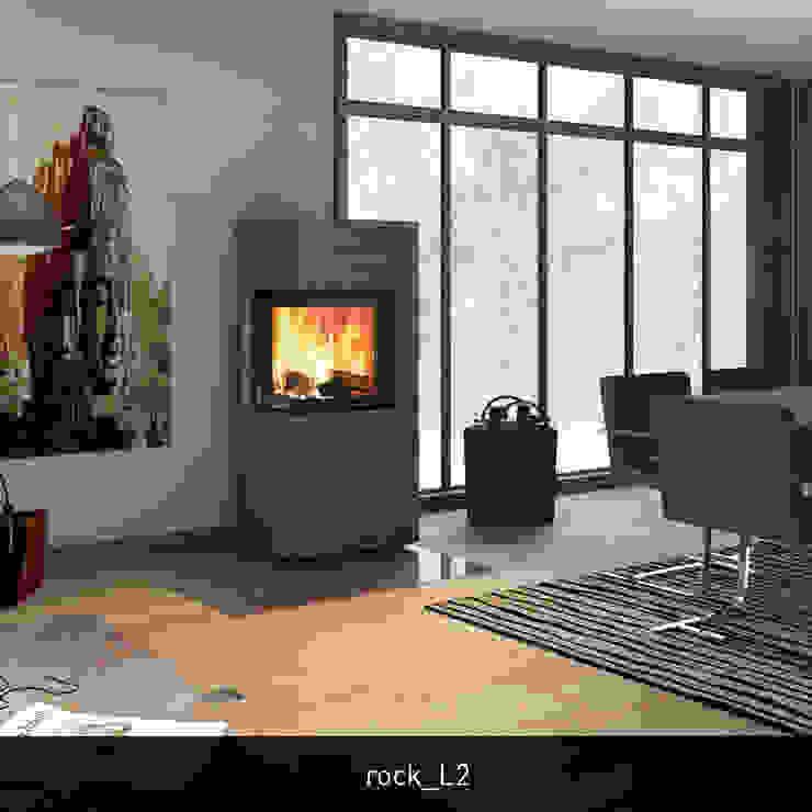 monolith rock L2 CB stone-tec GmbH Moderne Wohnzimmer Stein