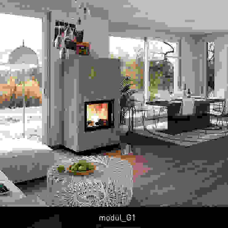 غرفة المعيشة تنفيذ CB stone-tec GmbH,