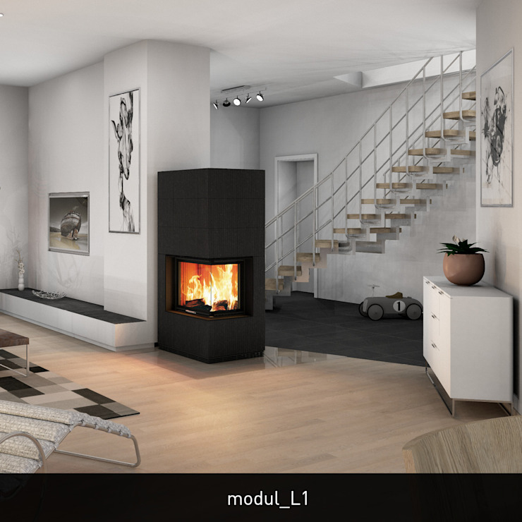 Salon moderne par CB stone-tec GmbH Moderne Pierre