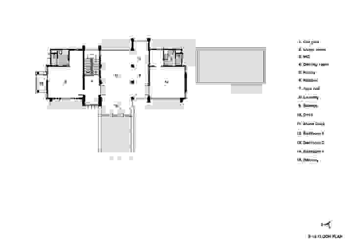 Miss Pritsana's residence โดย Autchawin Architect Co., Ltd.
