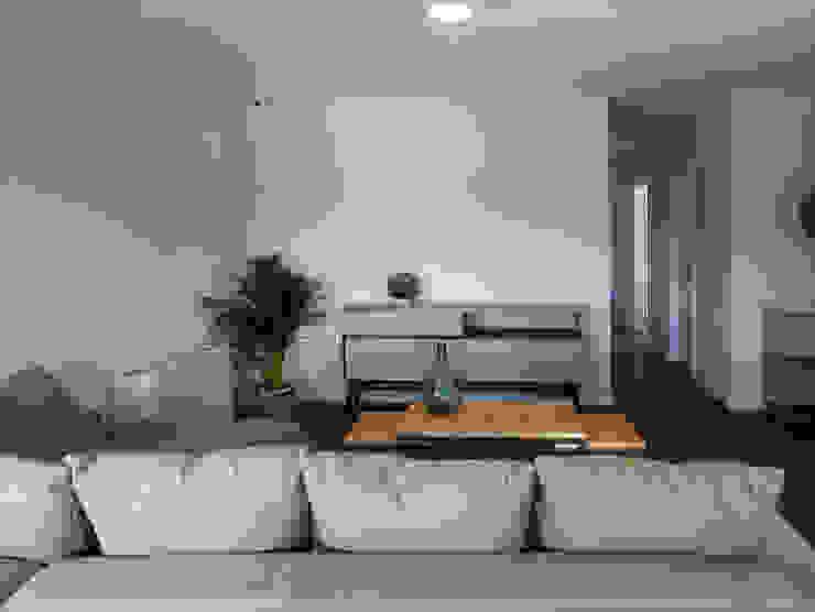 Salas de estilo  por Casas Cube,