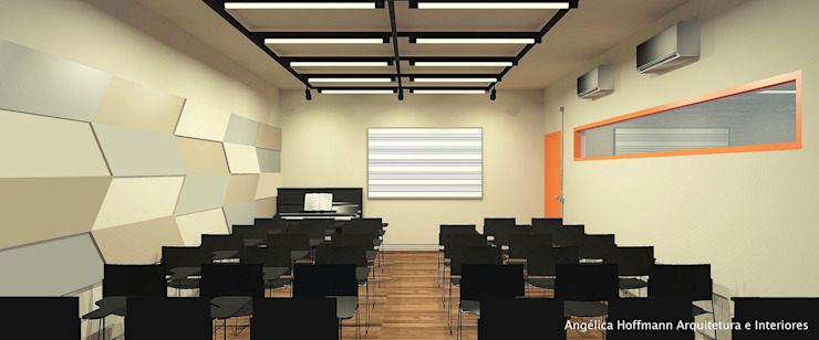 Modern Okullar Angelica Hoffmann Arquitetura e Interiores Modern