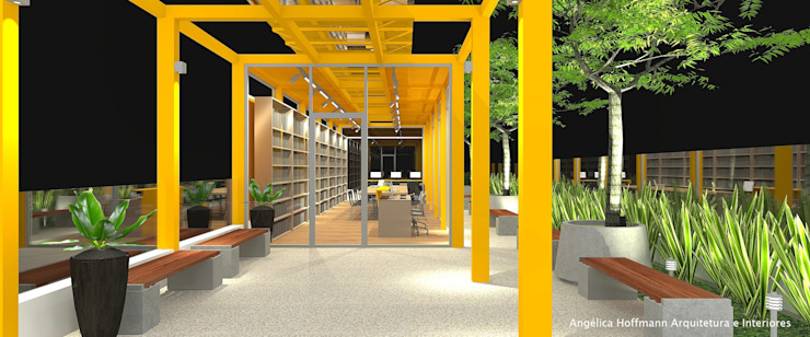 Escuelas de estilo moderno de Angelica Hoffmann Arquitetura e Interiores Moderno