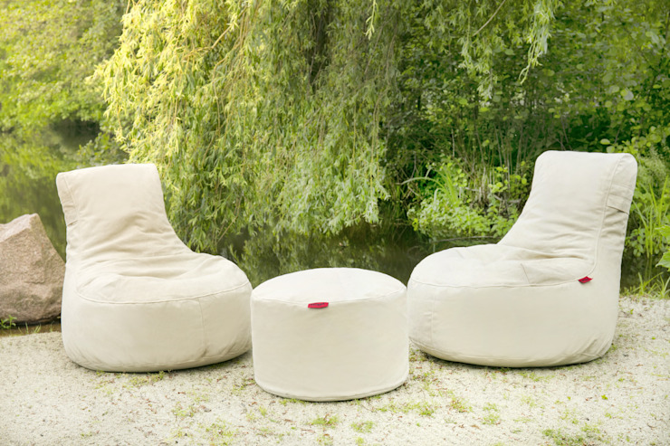OUTBAG - Seat and Table (Style: Slope and Rock) Global Bedding GmbH & Co.KG Balkon, Veranda & TerrasseMöbel Baumwolle Beige