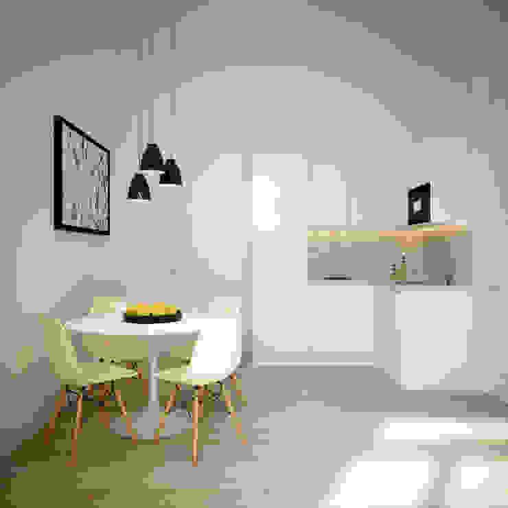 APARTAMENTO LUXO - T1 - AVENIDA DA LIBERDADE Salas de jantar modernas por EU LISBOA Moderno