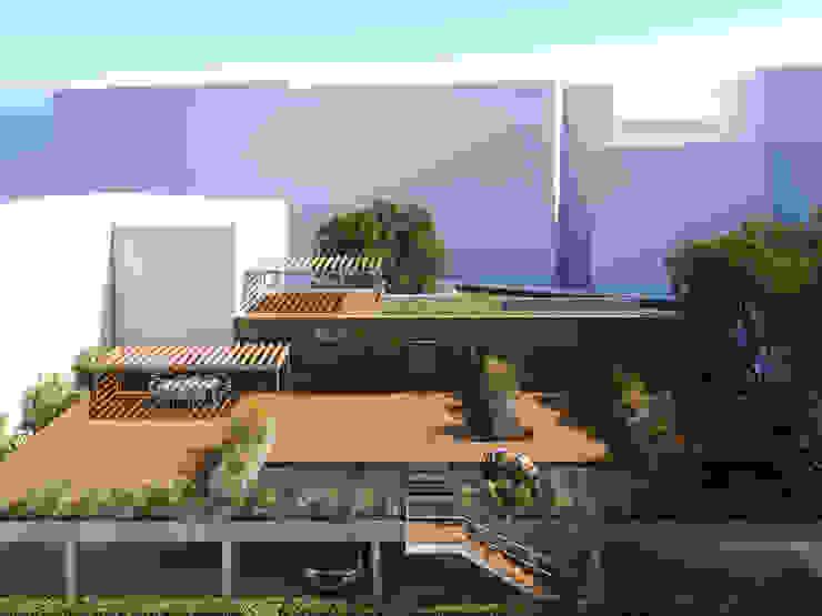 APARTAMENTO LUXO - T1 - AVENIDA DA LIBERDADE Jardins modernos por EU LISBOA Moderno
