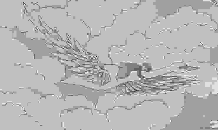 SWANS Lavender Wallpaper 10m Roll de Hevensent Clásico
