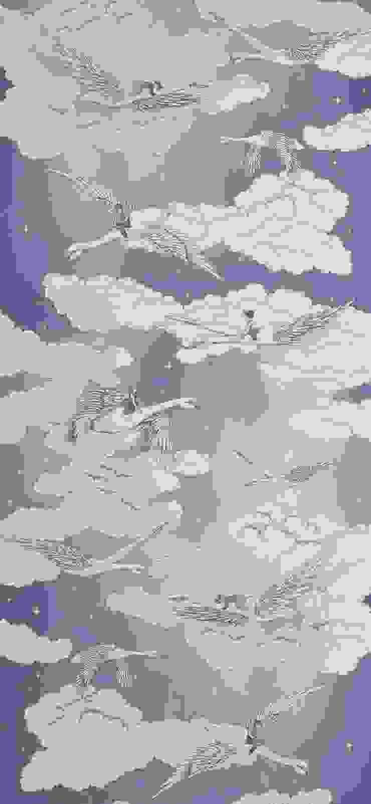 SWANS Lavender Wallpaper 10m Roll Hevensent 家居用品配件與裝飾品