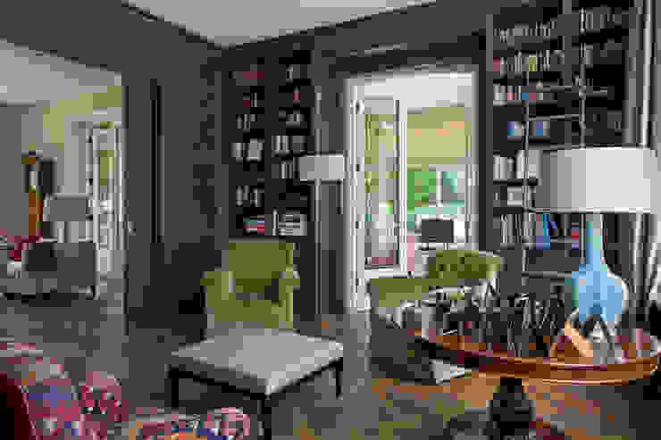Klassiek Engelse library, tailor-made Klassieke woonkamers van Vonder Klassiek