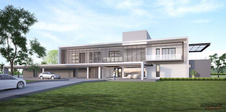 THE PARALLEL HOUSE โดย Autchawin Architect Co., Ltd.