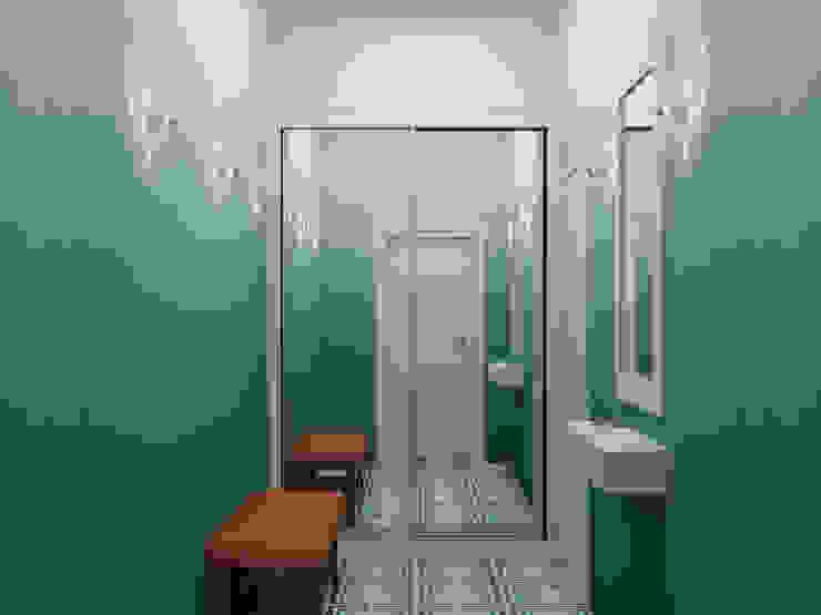 Scandinavian style corridor, hallway& stairs by Ёрумдизайн Scandinavian Tiles
