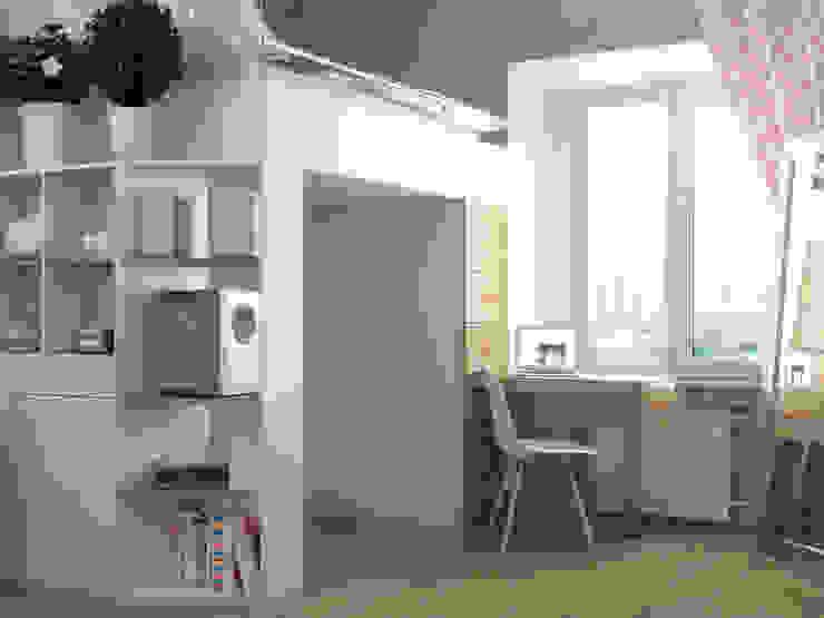 Estudios y oficinas estilo escandinavo de Ёрумдизайн Escandinavo Tablero DM