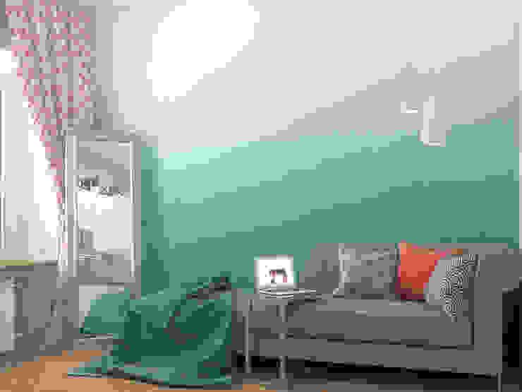 Scandinavian style living room by Ёрумдизайн Scandinavian Wood Wood effect