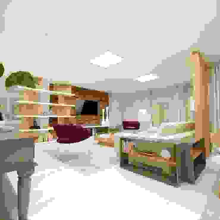 غرفة السفرة تنفيذ Cíntia Schirmer | arquiteta e urbanista, حداثي خشب معالج Transparent