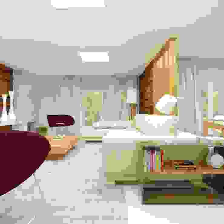 Salas modernas de Cíntia Schirmer | arquiteta e urbanista Moderno Derivados de madera Transparente