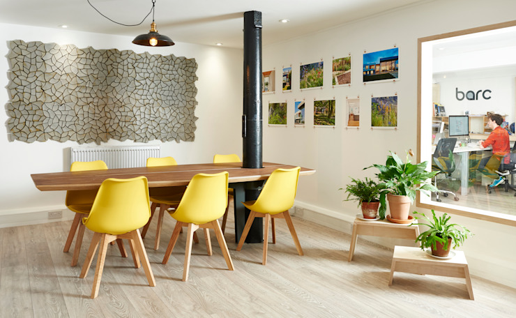 Hems Studio Meeting Room Modern offices & stores by Barc Architects Modern