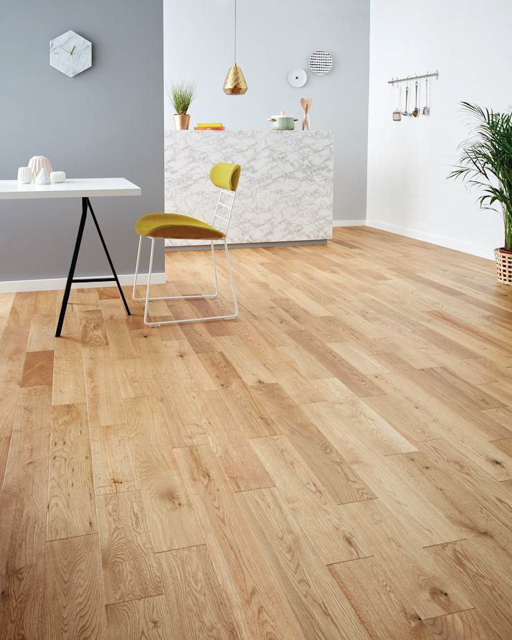 Barafundle Natural Oak Modern Walls and Floors by Woodpecker Flooring Modern Solid Wood Multicolored