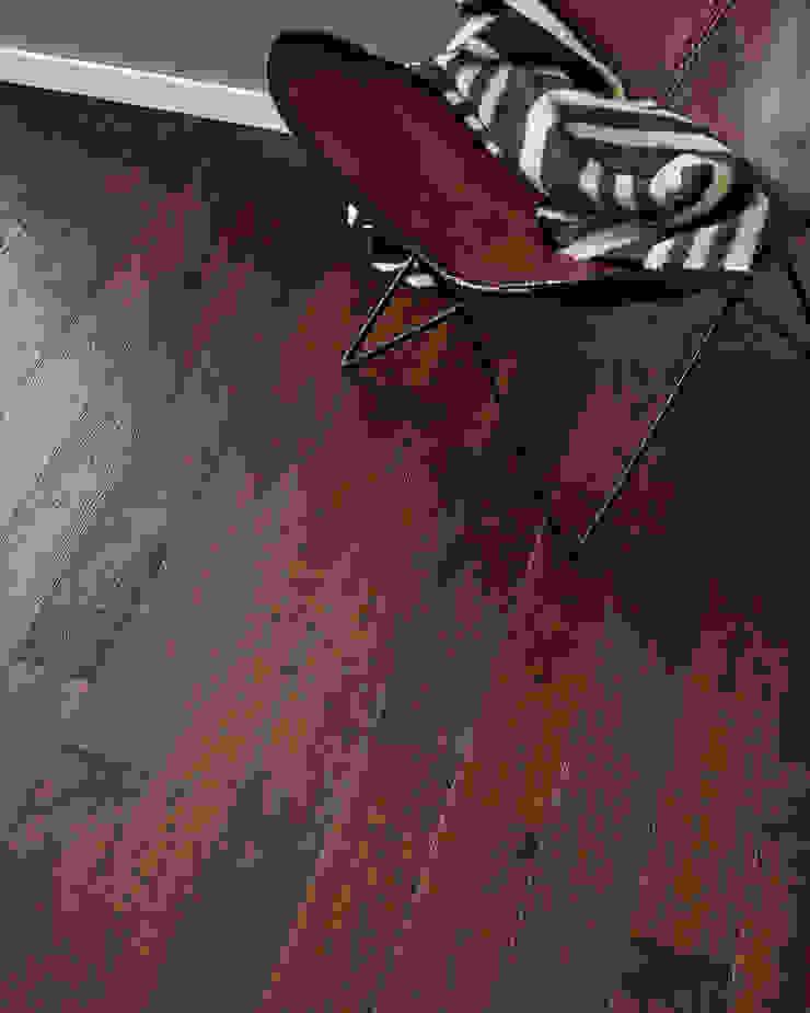 Barafundle Dark Oak by Woodpecker Flooring Rustic Solid Wood Multicolored