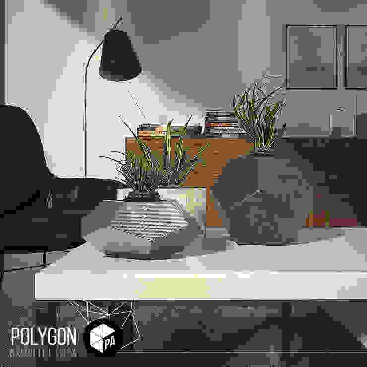 Visualizacion 3D Salas modernas de Polygon Arquitectura Moderno