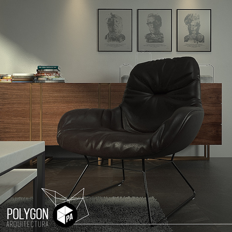 Modern Living Room by Polygon Arquitectura Modern