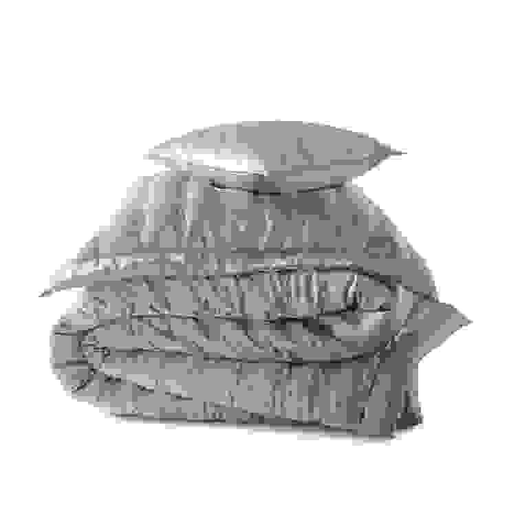 Windsor Silver Grey silk bedspread Gingerlily BedroomTextiles Silk Grey