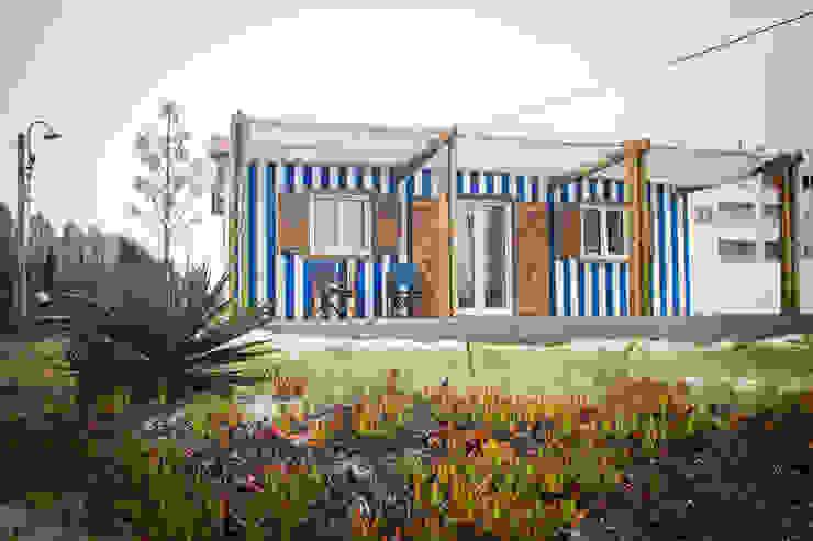 Casas de estilo mediterráneo de Artglam - construção Mediterráneo Madera Acabado en madera