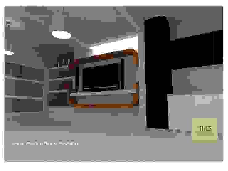 Casa Habitación Villahermosa Tabasco Centro. Salones modernos de TRES arquitectos Moderno Concreto reforzado