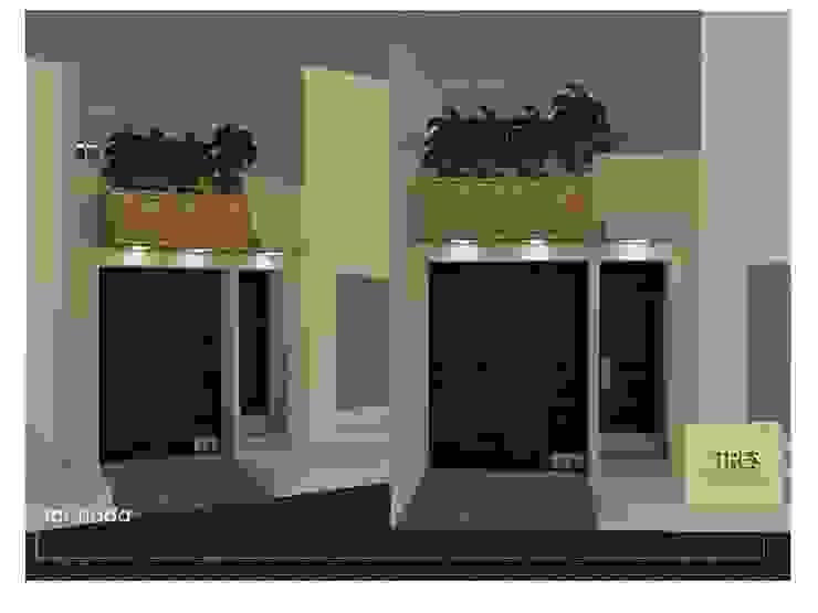 Casa Habitación Villahermosa Tabasco Centro. Casas modernas de TRES arquitectos Moderno Arenisca