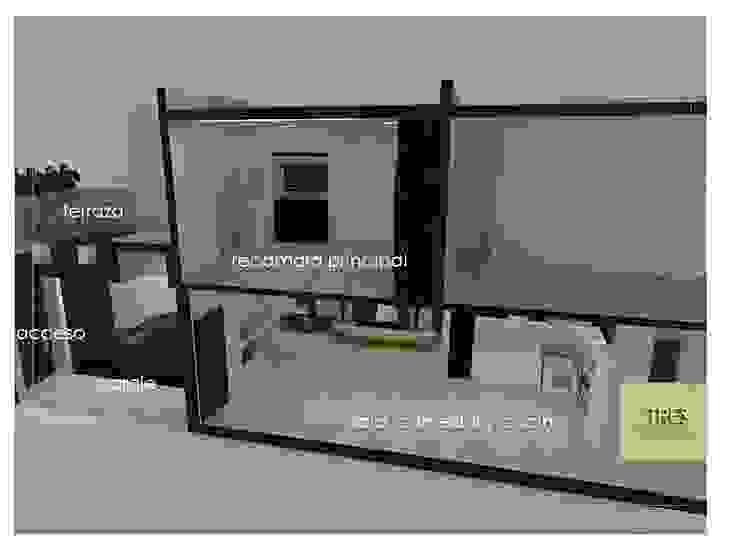 Casa Habitación Villahermosa Tabasco Centro. Dormitorios modernos de TRES arquitectos Moderno Madera Acabado en madera