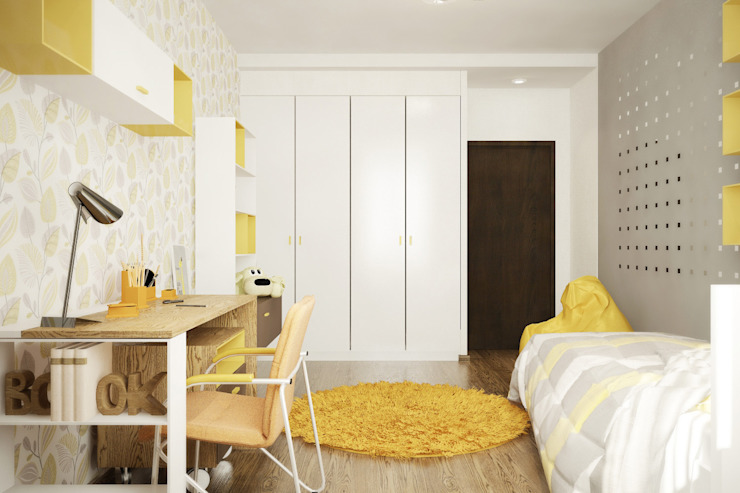 Александра Петропавловская Minimalist nursery/kids room Yellow