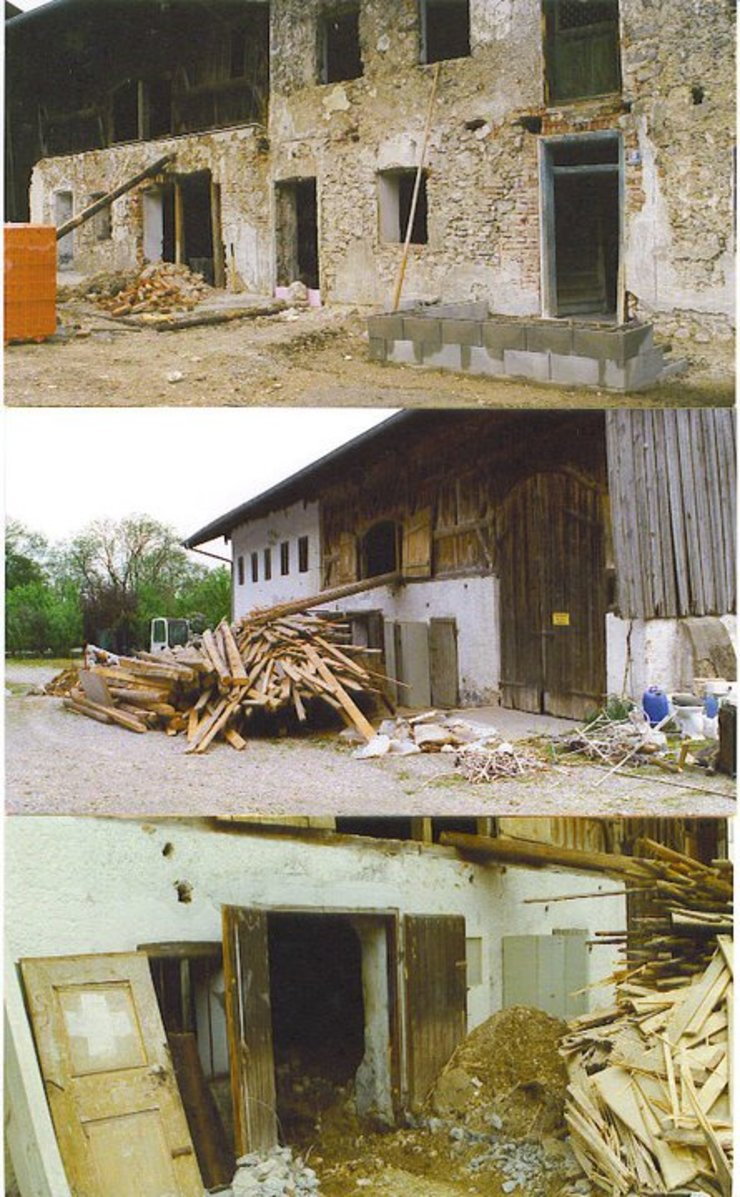 Restaurierung eines alten Gehöftes am Chiemsee CASA Santa Barbara Landhäuser Stein