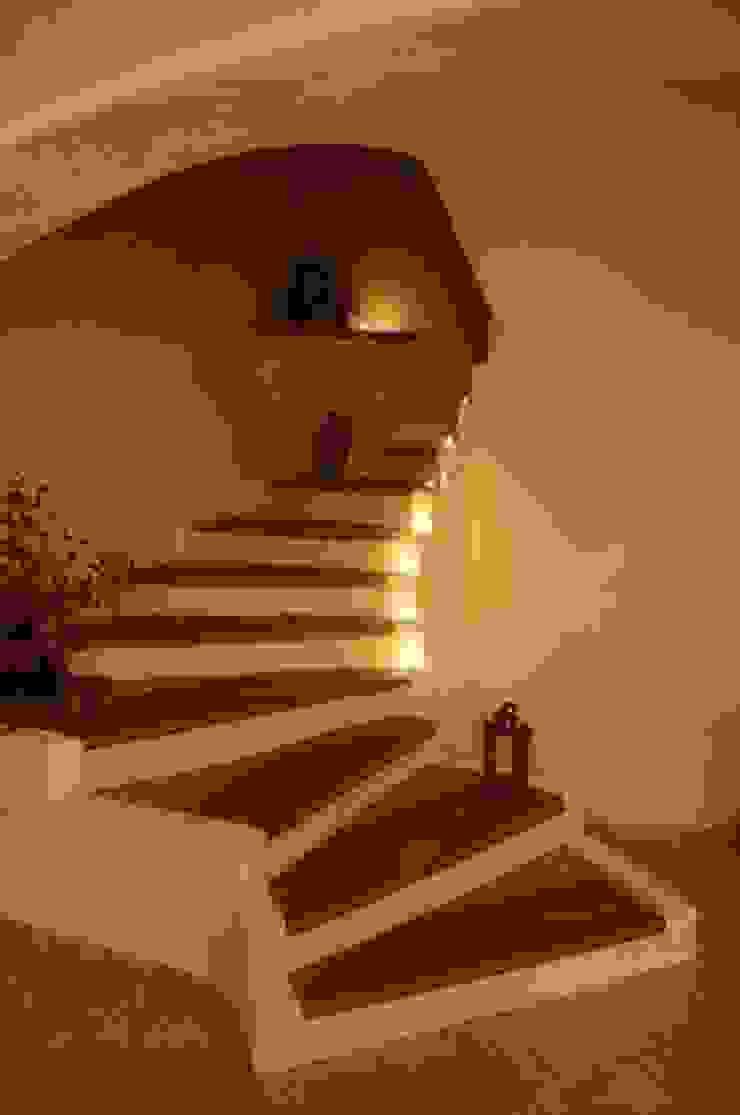 CASA Santa Barbara Mediterranean corridor, hallway & stairs Bricks