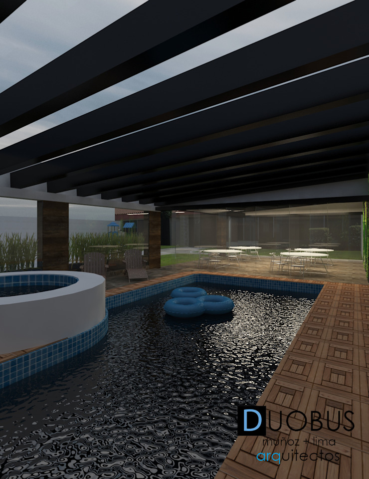 remodelación casa J.L.C. Albercas modernas de DUOBUS M + L arquitectos Moderno