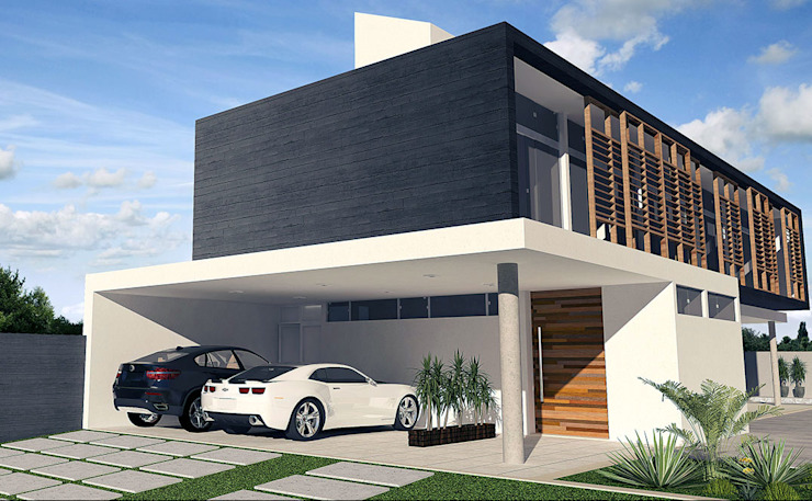 Casas de estilo  por Escritório de Arquitetura Eraldo Rocha