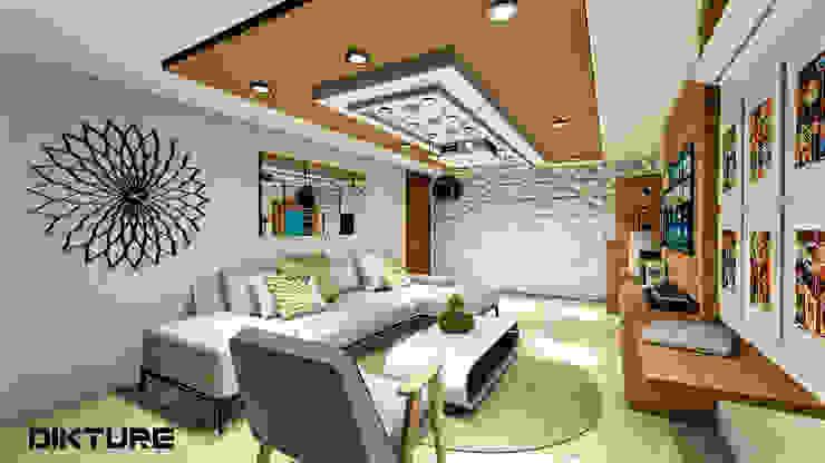 Centro de entretenimiento: Salas multimedia de estilo  por DIKTURE Arquitectura + Diseño Interior, Moderno