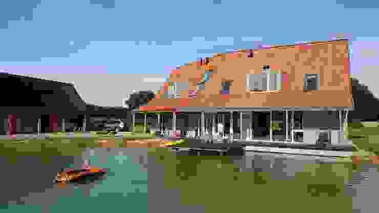 Vrijstaande woning in het landschap Moderne jachten & jets van Architectenbureau Jules Zwijsen Modern