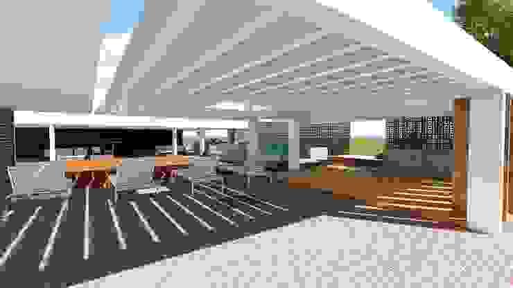 Casa Tz'onot Balcones y terrazas modernos de Grupo Cerma Moderno