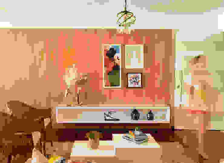 Sala de estar Salas de estar modernas por Ladrilho Urbanismo e Arquitetura Moderno MDF