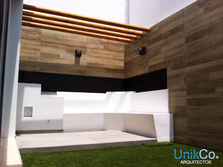 homify Modern style gardens Tiles Wood effect