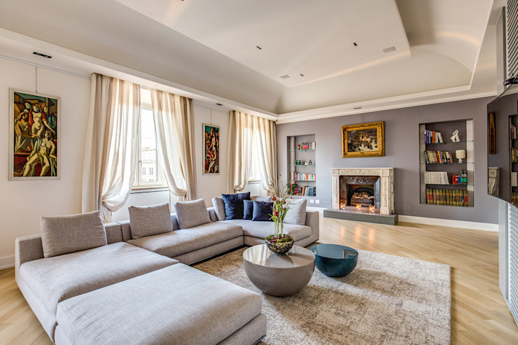 Moderne woonkamers van MOB ARCHITECTS Modern