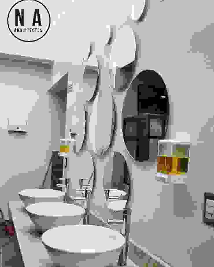 NA Arquitectos Modern bars & clubs Glass White