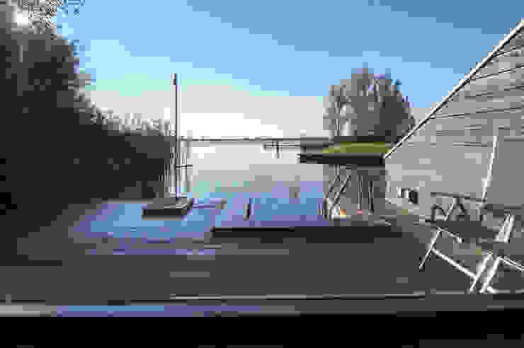 uitzicht vanuit sauna van Heeren 3 Architecten