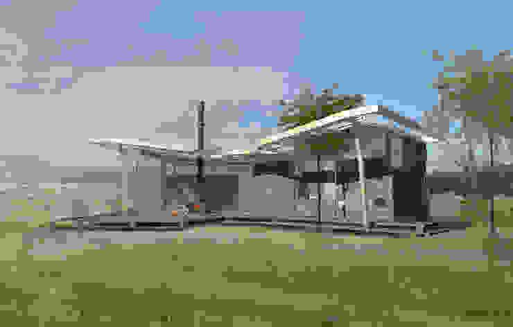 vlinderhuis aanzicht voorkant tuin Moderne huizen van hans moor architects Modern