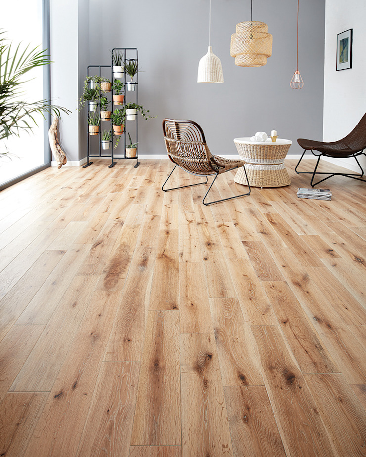 York by Woodpecker Flooring Rustic Solid Wood Multicolored