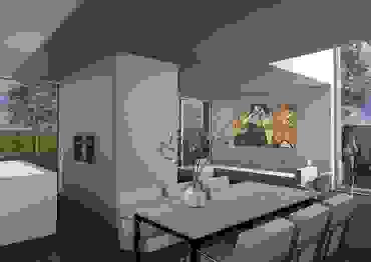 Dick van Aken Architectuur 现代客厅設計點子、靈感 & 圖片 石器 White