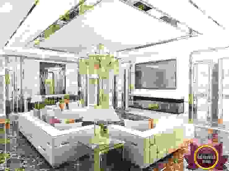 Modern living room interior of Katrina Antonovich 2 Modern living room by Luxury Antonovich Design Modern